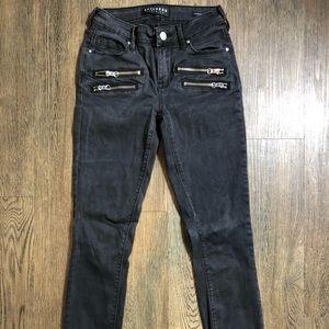 Bullhead Jeans - Black denim embellished jeans